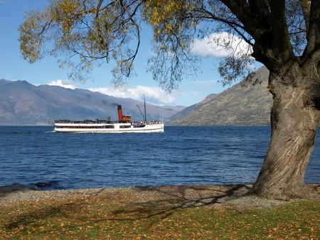 Tour-boat Earnslaw on Lake Wakatipu, Central Otago
