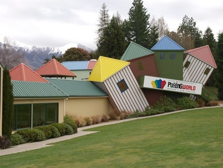 Puzzling World, amazing architecture to baffle old and young, Wanaka, New Zealand